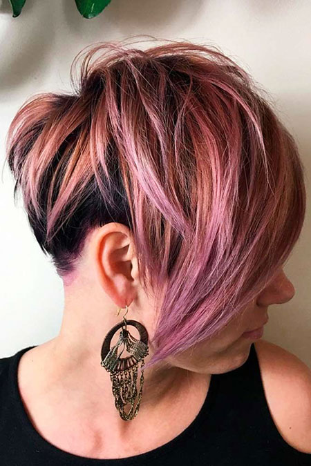 Layered Hair Bob Purple