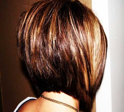 Short Bob Cut with Highlighted Hair Color