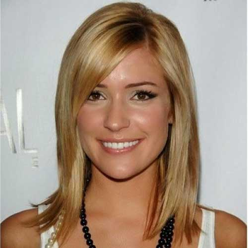 Blonde Long Inverted Bob Hairstyles