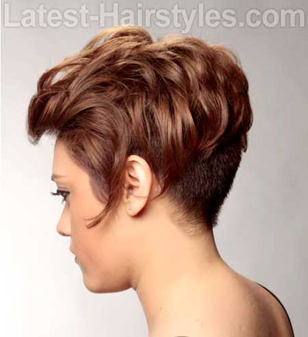 Undercut Hairdo with Inverted Bangs on Top