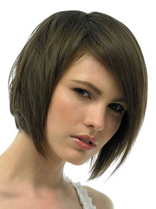 Graduated Bob Dark Brown Hair Pictures