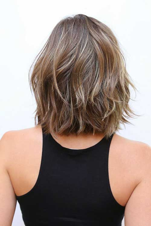 Back View of Long Bob Hairstyles