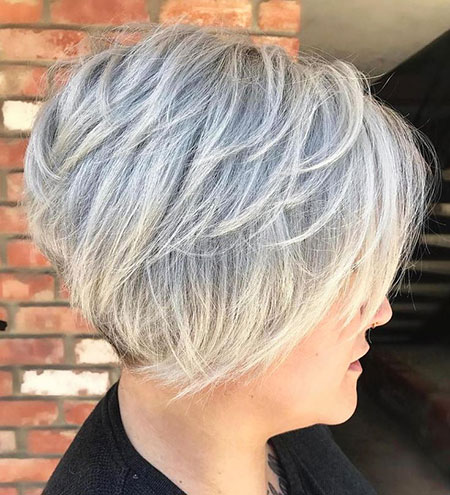 Layered Blonde Pixie Bob, Layered Blonde Pixie Balayage