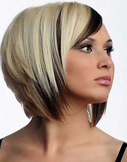 Layered Reverse Bob Hairstyle
