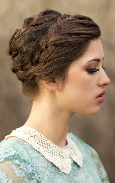 Braids with Updos - Formal Updo Hairstyles for Medium Hair